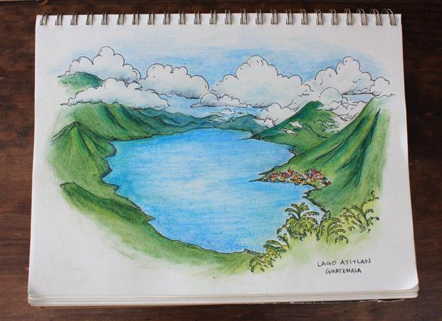 Картинки байкал карандашом
